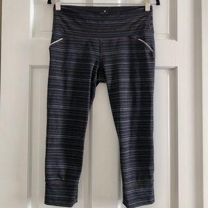 Athleta Striped Reflective Mesh Leggings Small